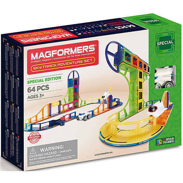 MAGFORMERS Магнитный конструктор Magformers 799012 Sky Track Adventure set cuteroom 1 32dollhouse diy kit light with cover starry sky adventure stand joint model