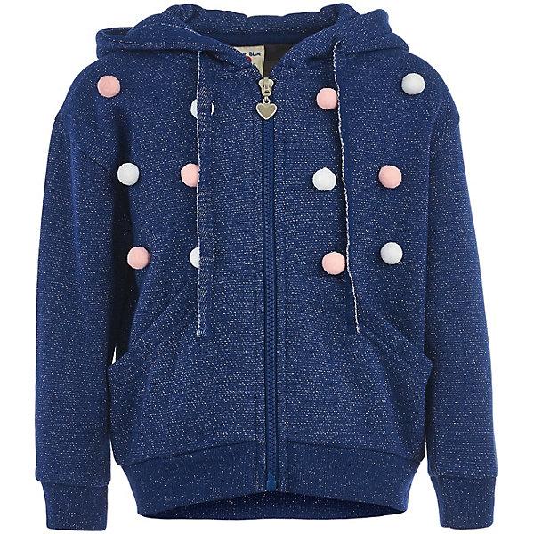 Купить Толстовка Button Blue для девочки, Китай, синий, 146, 116, 158, 140, 98, 104, 128, 152, 110, 122, 134, Женский