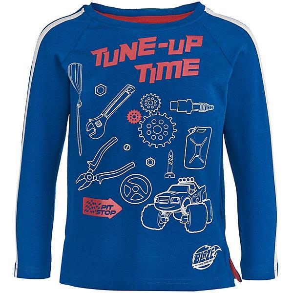Купить Футболка с длинным рукавом Button Blue для девочки, Бангладеш, синий, 122, 110, 116, 98, 128, 134, 104, Мужской