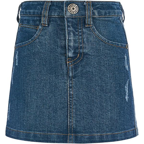 Купить Юбка Button Blue для девочки, Китай, синий, 128, 152, 134, 110, 98, 116, 140, 146, 104, 122, 158, Женский