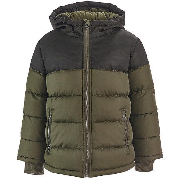 Демисезонная куртка Button BlueКуртки<br>Характеристики товара:<br><br>• состав: 100% полиэстер;<br>• подкладка: 100% полиэстер/100% хлопок;<br>• утеплитель: 100% полиэстер;<br>• сезон: демисезон;<br>• температурный режим: от +10 до -10С<br>• застёжка: молния с защитой подбородка;<br>• куртка с капюшоном;<br>• капюшон не снимается;<br>• внутренние трикотажные эластичные манжеты;<br>• карманы на молнии;<br>• коллекция: Основная коллекция;<br>• страна бренда: Россия.<br><br>Демисезонная детская куртка со стильным рисунком подарит мальчику комфорт и позволит ему чувствовать себя на высоте. Куртка с утеплителем соответствует всем модным трендам этого осенне-зимнего сезона. Она максимально удобна и функциональна.