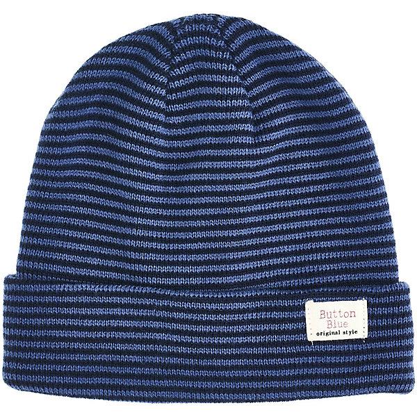 Купить Комплект Button Blue: шапка и шарф, Китай, синий, 50, 56, 54, 52, Мужской