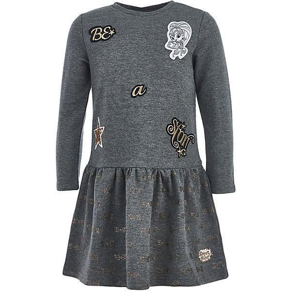 Купить Платье Button Blue для девочки, Китай, серый, 110, 98, 128, 104, 134, 116, 122, Женский