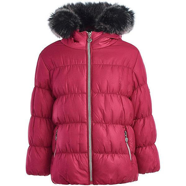 Куртка Button Blue для девочкиВерхняя одежда<br>Характеристики товара:<br><br>• цвет: розовый;<br>• состав: 100% полиэстер;<br>• подкладка: 100% полиэстер/100% полиэстер, флис;<br>• утеплитель: 100% полиэстер, искусственный мех;<br>• сезон: зима;<br>• температурный режим: от -5 до -25С<br>• застёжка: молния;<br>• куртка на флисовой подкладке;<br>• куртка с капюшоном;<br>• искусственный мех на капюшоне<br>• капюшон и мех не снимается;<br>• карманы на молнии;<br>• коллекция: Основная коллекция;<br>• страна бренда: Россия.<br><br>Зимняя куртка для девочек на флисовой подкладке с искусственным мехом на капюшоне идеальна для умеренной зимы. Куртка с изящным орнаментом и яркой контрастной подкладкой выглядит стильно и соответствует всем модным трендам осени и зимы. Модель максимально комфортна, имеет комфортную длину и удачную форму, удобные карманы.