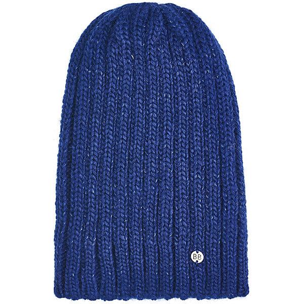 Шапка Button BlueГоловные уборы<br>Характеристики товара:<br><br>• цвет: синий;<br>• состав: 50% шерсть, 48% акрил, 2% люрекс;<br>• подкладка: без подкладки;<br>• утеплитель: без дополнительного утепления;<br>• сезон: демисезон;<br>• температурный режим: от +5 до -7С;<br>• застёжка: без застёжки;<br>• особенности: вязаная;<br>• коллекция: Основная коллекция;<br>• страна бренда: Россия.<br><br>Вязаная шапка – аксессуар, без которого не обойтись осенью и зимой. Правильно подобранная шапка будет не только дарить тепло, но и поможет составить трендовый образ, подчеркнет стиль ее обладателя.