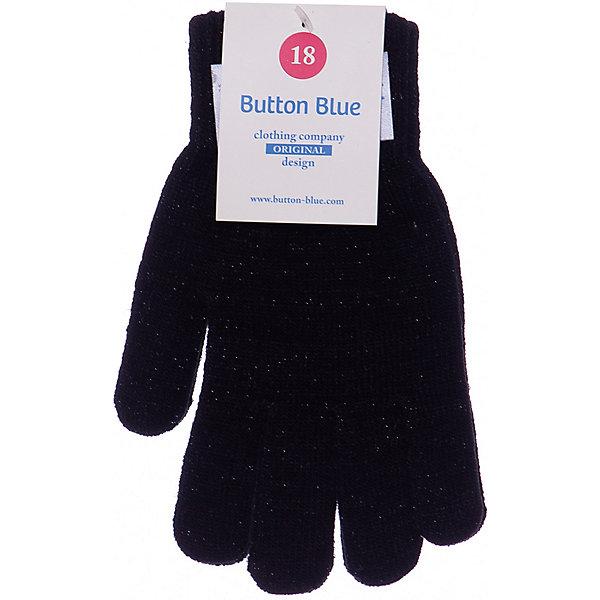 Купить Перчатки Button Blue для девочки, Китай, черный, 18, 14, 12, 16, Женский
