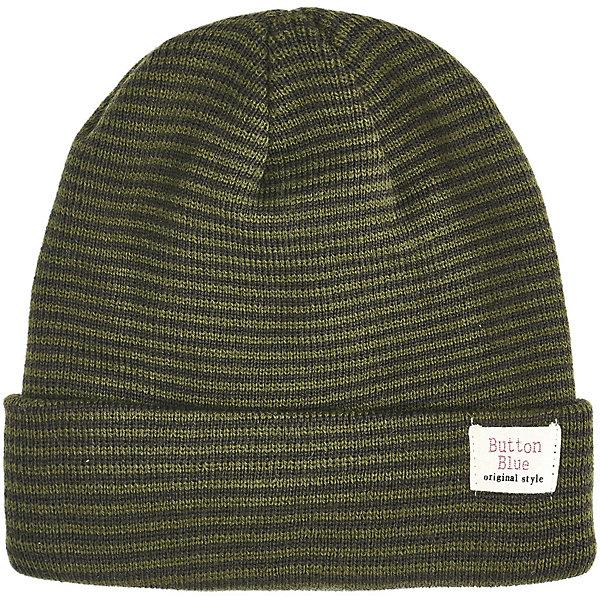 Купить Комплект Button Blue: шапка и шарф, Китай, хаки, 56, 54, 52, 50, Мужской