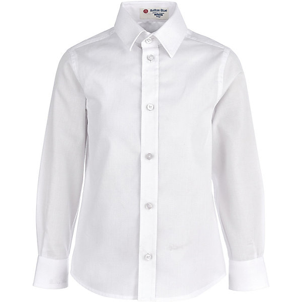 Купить Сорочка Button Blue для мальчика, Китай, белый, 122, 128, 140, 104, 98, 134, 146, 116, 110, 152, 158, Мужской