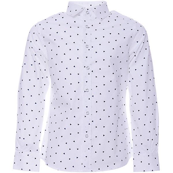 Купить Сорочка Button Blue для мальчика, Китай, белый, 122, 128, 152, 146, 134, 116, 110, 104, 158, 140, 98, Мужской
