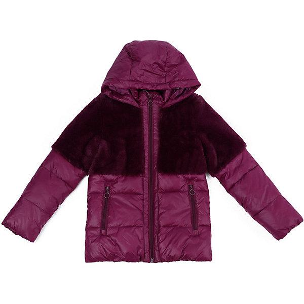 Утепленная куртка PlayTodayКуртки<br>Характеристики товара:<br><br>• состав: 100% нейлон<br>• подкладка: 100% полиэстер<br>• утеплитель: 100% полиэстер, 250 г/м2<br>• сезон: зима<br>• температурный режим: от 0 до -25С<br>• застёжка: молния с защитой подбородка<br>• капюшон не отстёгивается<br>• высокий воротник<br>• внутренняя эластичная резинка<br>• карманы на молнии<br>• декорирована искусственным мехом<br>• коллекция: Холодное сияние<br>• страна бренда: Германия<br><br>Куртка Play Today для девочки. Оригинальную теплую куртку, декорированную мехом, по достоинству оценит каждая современная девочка. Удобные карманы на молниях, вместительный не отстегивающийся капюшон, резинка, обеспечивающая прилегание рукава, — хорошо продуманные детали модели, добавляющие удобство при носке.