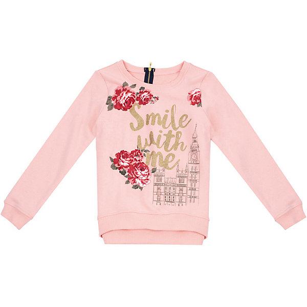 PlayToday Толстовка Play Today для девочки play today для девочки осенние цветы розовый