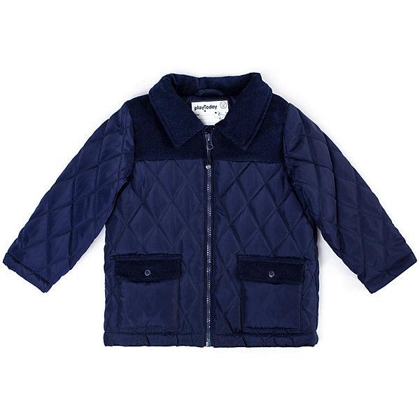 Купить Куртка Play Today для мальчика, PlayToday, Китай, темно-синий, 80, 92, 74, 86, 98, Мужской