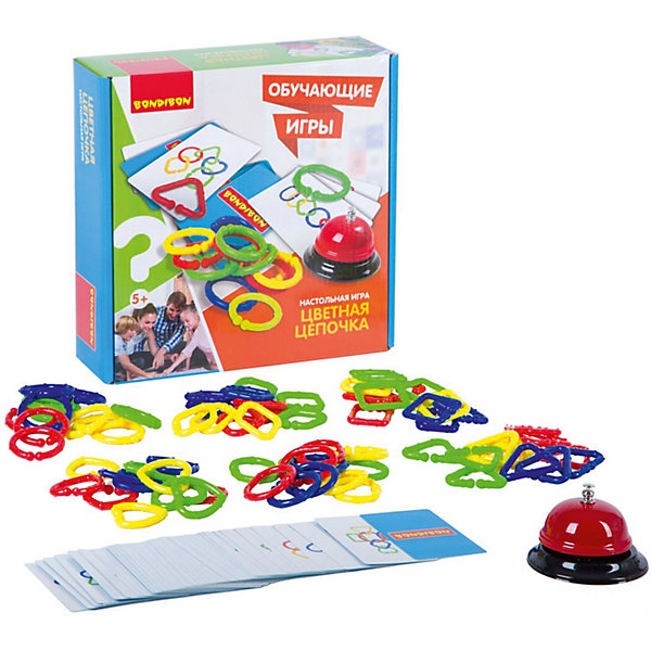 Bondibon Настольная игра Bondibon Цветная цепочка настольная игра bondibon цветная цепочка вв2417