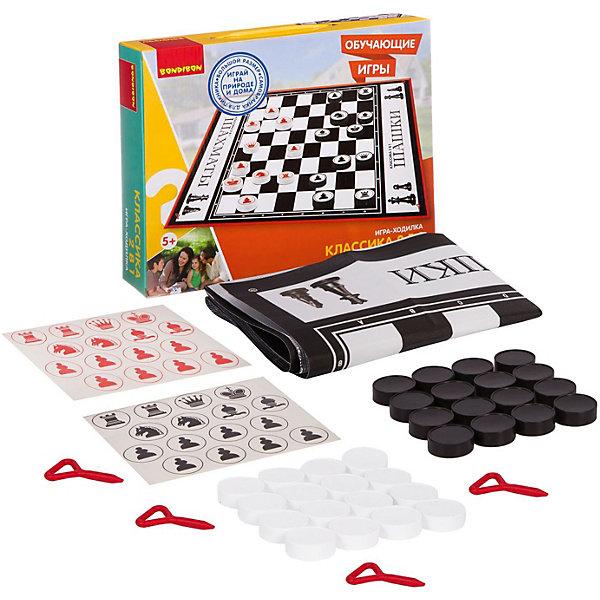 Купить Обучающие игры Bondibon Игра-ходилка «КЛАССИКА 2 в 1», серия игр большого размера 130x93x0, 15 см, Китай, Унисекс