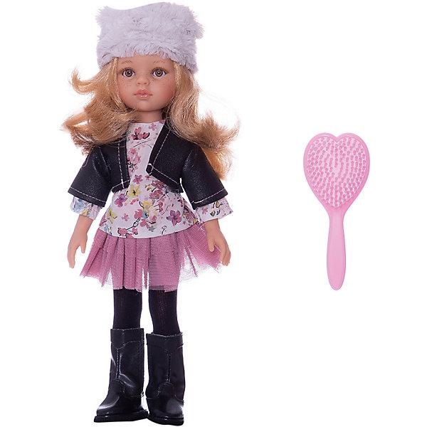 Кукла Paola Reina Даша, 32 смКлассические куклы<br>Характеристики:<br><br>• возраст: от 3 лет<br>• высота куклы: 32 см.<br>• глаза не закрываются<br>• материал: кукла изготовлена из винила; <br>• глаза выполнены в виде кристалла из прозрачного твердого пластика; <br>• волосы сделаны из высококачественного нейлона.<br>• упаковка: подарочная картонная коробка<br><br>Кукла Paola Reina имеет нежный ванильный аромат; уникальный и неповторимый дизайн лица и тела; ручная работа (ресницы, веснушки, щечки, губы, прическа); волосы легко расчесываются и блестят; глазки не закрываются; ручки, ножки и голова поворачиваются.