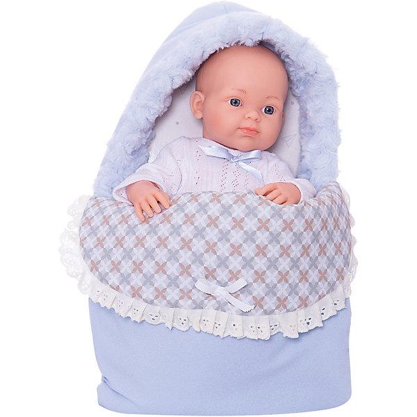 Купить Кукла Paola Reina Бэби в теплом голубом конверте, 32 см, Испания, Женский