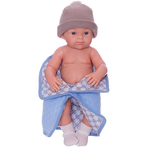 Купить Кукла Paola Reina Бэби, рюкзак и одеяльце, голубой, 32 см, Испания, Женский