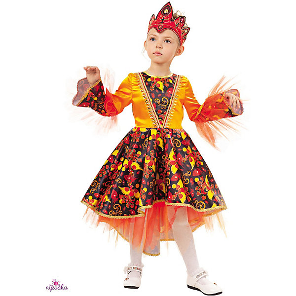 Карнавальный костюм Жар-птица Пуговка, Россия, 122, 116, 110, Женский  - купить со скидкой