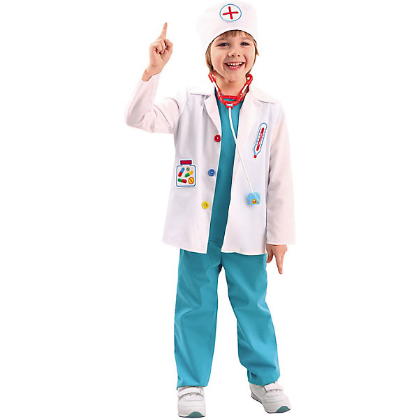 Купить Карнавальный костюм Пуговка Доктор , Россия, 116, 110, 128, 140, 122, 134, Унисекс