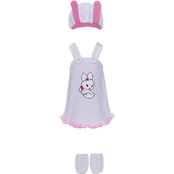 Батик Карнавальный костюм Батик Зайка бело-розовый батик костюм карнавальный для девочки зайка размер 28