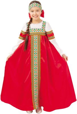 Карнавальный костюм  Марьюшка , Пуговка, артикул:9383967 - Детские карнавальные костюмы и аксессуары