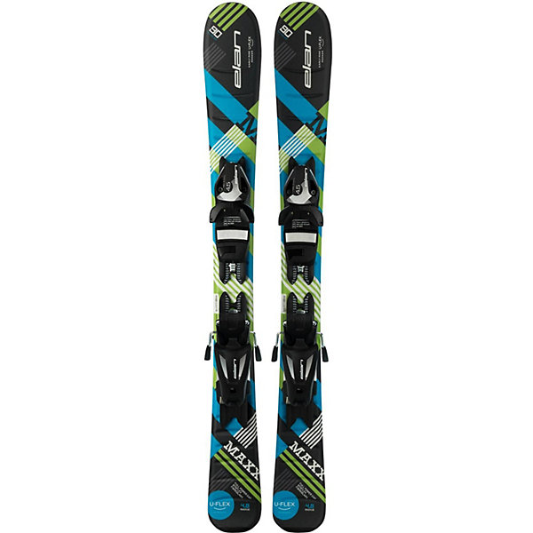 Elan Горные лыжи с креплениями Elan Maxx, 90 см лыжи escape 5 classic