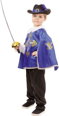 Карнавальный костюм  Мушкетер синий , Пуговка, артикул:9384008 - Детские карнавальные костюмы и аксессуары