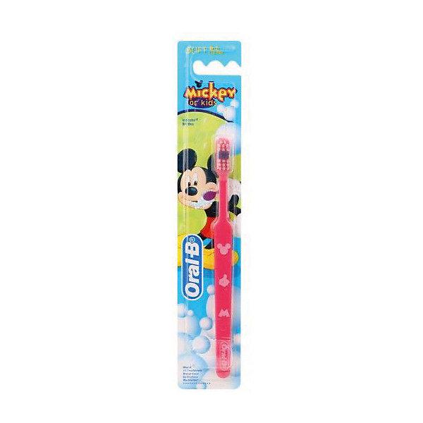 Купить Детская зубная щетка Oral-B Mickey for Kids от 3 лет, розовая, Китай, розовый, Женский