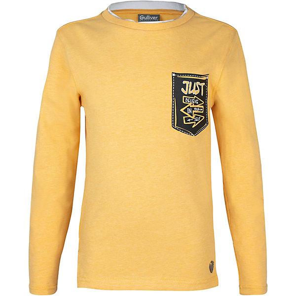 Купить Футболка с длинным рукавом Gulliver для мальчика, Китай, желтый, 98, 116, 110, 104, Мужской