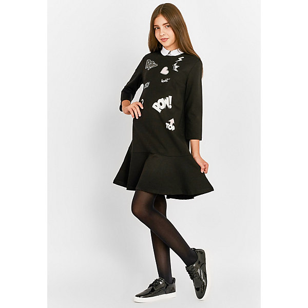 Gulliver Платье Gulliver для девочки полуприталенное платье с рукавом 3 4 ellen kloss платья и сарафаны приталенные