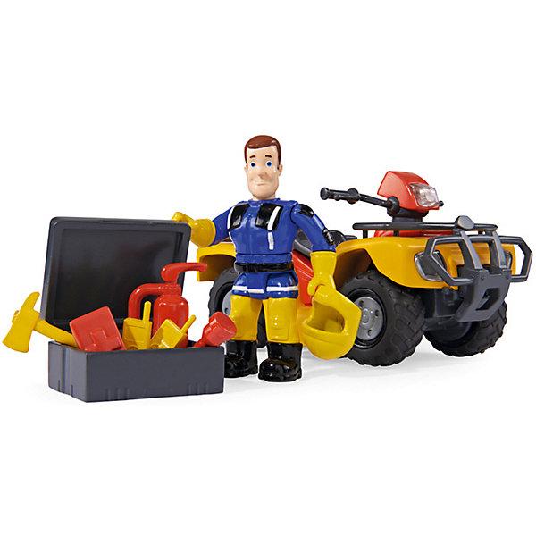 Simba Квадроцикл Simba Пожарный Сэм с аксессуарами, свет simba пожарный сэм фигурка морская станция свет звук акс 6 6