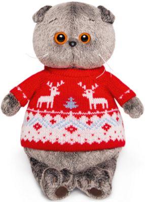 Мягкая игрушка Budi Basa Кот Басик в свитере с оленями, 19 см, артикул:9396358 - Мягкие игрушки