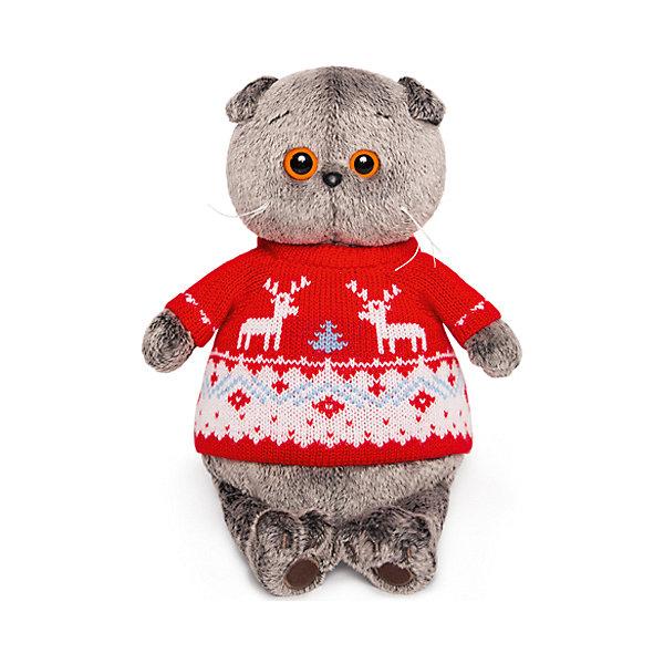 Budi Basa Мягкая игрушка Budi Basa Кот Басик в свитере с оленями, 19 см
