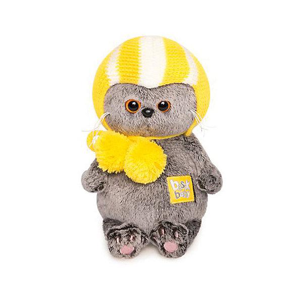 Купить Мягкая игрушка Budi Basa Кот Басик Baby в спортивной шапке, 20 см, Россия, коричневый, Унисекс