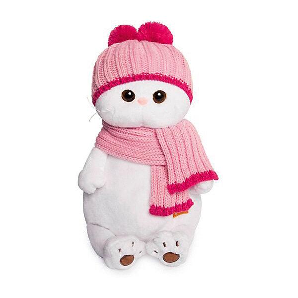 Budi Basa Мягкая игрушка Budi Basa Кошечка Ли-Ли в розовой шапке с шарфом, 24 см