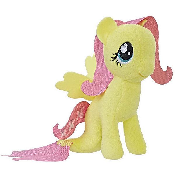 Hasbro Мягкая игрушка My little Pony Подводные пони Флаттершай, 13 см hasbro мягкая игрушка hasbro my little pony маленькие плюшевые пони трикси луламун 13 см