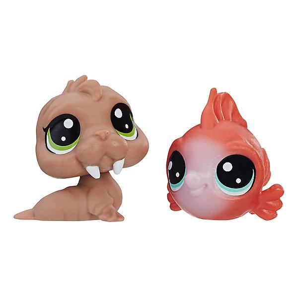 Купить Набор игровых фигурок Littlest Pet Shop, Wally Walrd & Eda Redfish, Hasbro, Китай, Женский