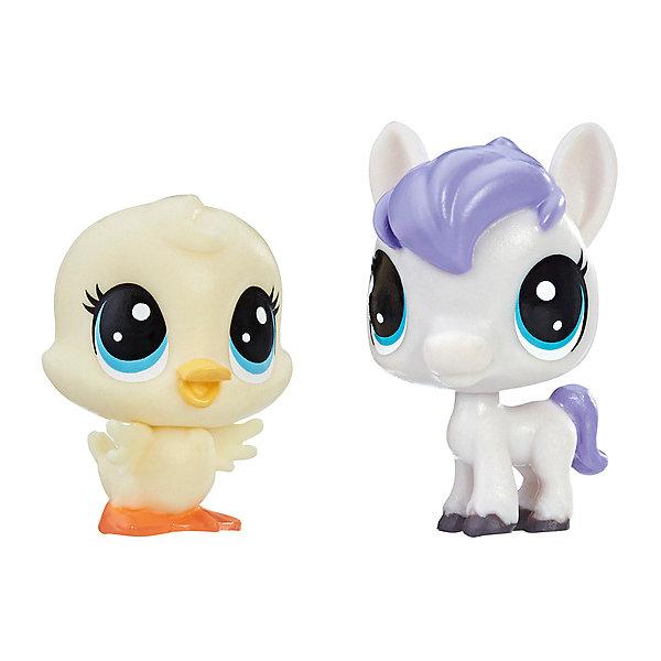 Купить Набор игровых фигурок Littlest Pet Shop, Dash Horseton & May Duckly, Hasbro, Китай, Женский