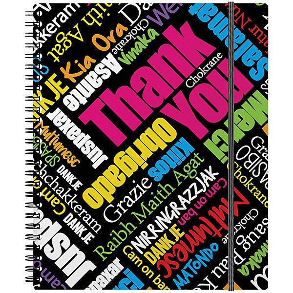 Купить Тетрадь на спирали ErichKrause Thank you! А5+, 80 л., клетка, Erich Krause, Россия, разноцветный, Женский