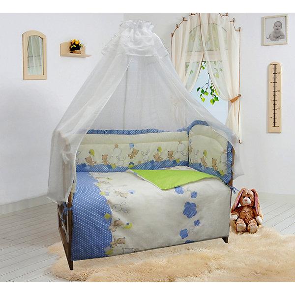 Soni Kids Бортик в кроватку В уютных облачках голубой