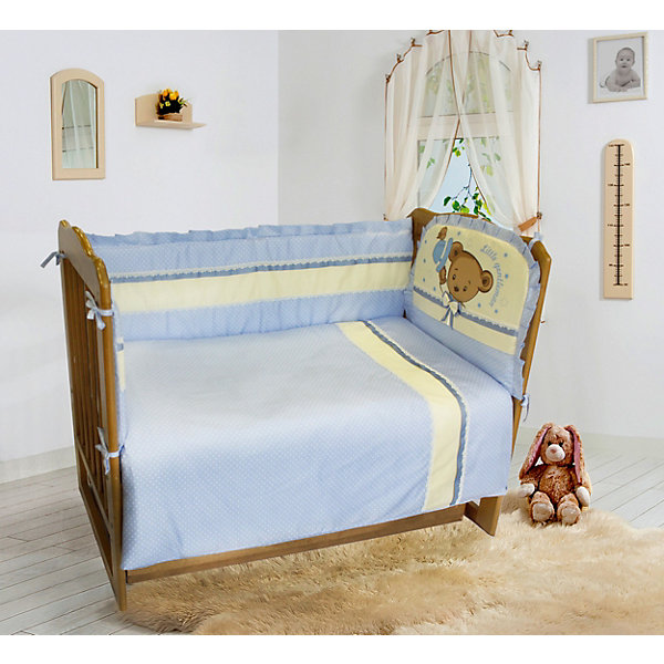 Soni Kids Комплект постельного белья из 6 предметов Soni Kids Мишка Джентельмен в горошек