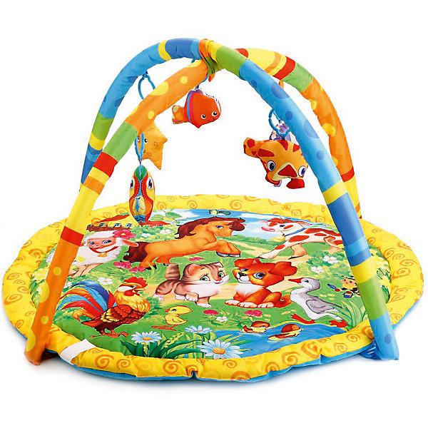Умка Детский коврик Umka Домашние животные с игрушками на подвеске детский игровой коврик с погремушками на подвеске в сумке