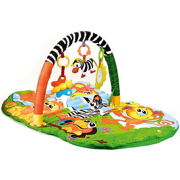 Умка Детский коврик Umka Животные африки с игрушками на подвеске коврик детский умка прямоугольный с дугой для новорожденных веселые открытия в пак в кор 12шт