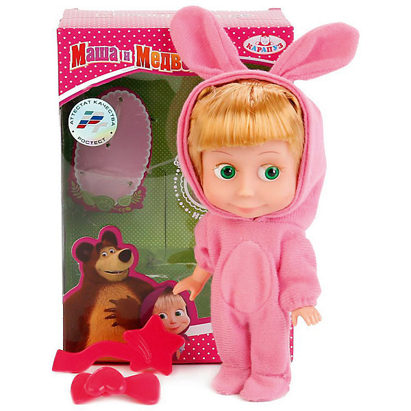 Купить Интерактивная кукла КАРАПУЗ Маша и медведь в костюме зайца, Карапуз, Китай, Женский