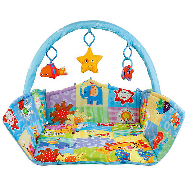 Умка Детский коврик Umka с бортами и дугой коврик детский умка прямоугольный с дугой для новорожденных веселые открытия в пак в кор 12шт