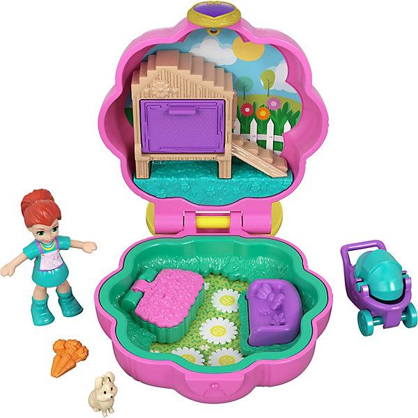 Mattel Игровой набор Polly Pocket Smart Stick, розовый цветок