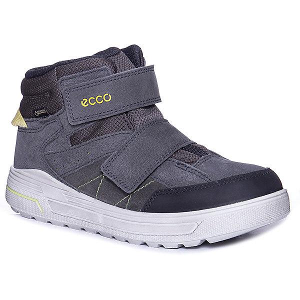 Купить Утепленные ботинки ECCO, Индонезия, черный/серый, 36, 40, 39, 37, 38, Унисекс