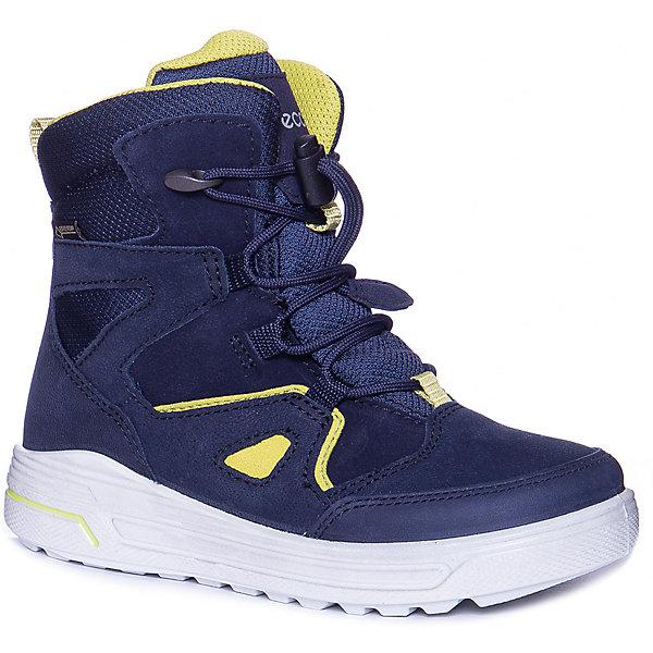 Купить Утепленные ботинки ECCO, Китай, синий, 29, 28, 32, 33, 35, 34, 30, 31, 27, Мужской