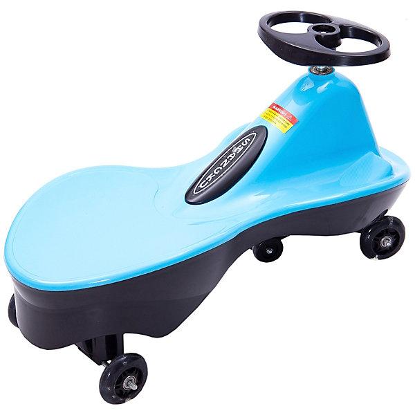 Машинка Bradex «Бибикар спорт», голубаяКаталки<br>Характеристики:<br><br>• возраст: от 3 лет;<br>• материал: пластик, металл, полиуретан;<br>• в наборе: машинка, ключ для сборки, инструкция;<br>• подсветка колес: да;<br>• максимальная нагрузка: 80 кг;<br>• максимальная скорость: до 10 км/ч;<br>• вес упаковки: 2,5 кг;<br>• размер упаковки: 68х32х25 см;<br>• страна бренда: Израиль.<br><br>Машинка Bradex «Бибикар спорт» голубая приходит в движение от вращений руля. В игрушке нет мотора или батареек, движение осуществляется за счет собственного веса и маневров колес. <br><br>Машинка оснащена подставкой для ног и широким сиденьем. Колеса из полиуретана обеспечивают мягкий ход и бесшумность, подсвечиваются во время движения. Подходит для использования дома и на улице.
