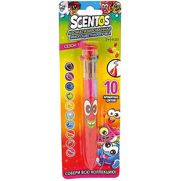 Купить Ароматизированная шариковая ручка WeVeel Scentos, 10 цветов, красная, США, разноцветный, Унисекс